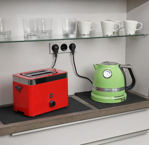 Brandschutzunterlagen in der Küche