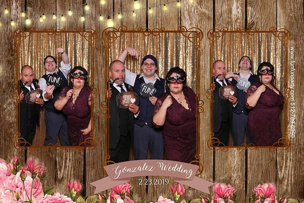 Wedding twisted ranch | Magic Mirror Photo Booth Rental | Fun Fun Party Liberty Hills TX | Fun Fun Party