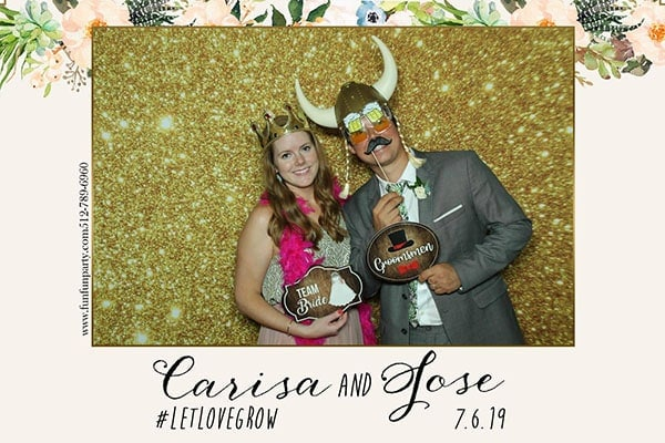 Wedding at Wild flower center | Mirror X Photo Booth | Premium Mirror Photo Booth Rental in Austin TX | Fun Fun Party