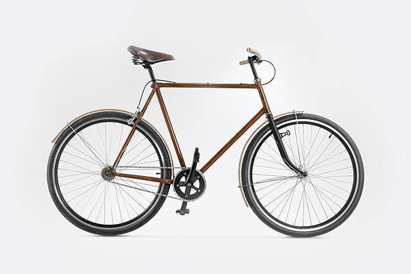 Rower męski od Goldie&Oldie - model OLDIE 1000 z drewnianymi akcesoriami