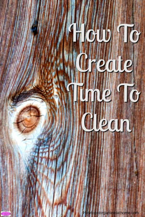 How you create time to clean is not difficult if you change your approach and concept of cleaning. Look at it as something positive for yourself!