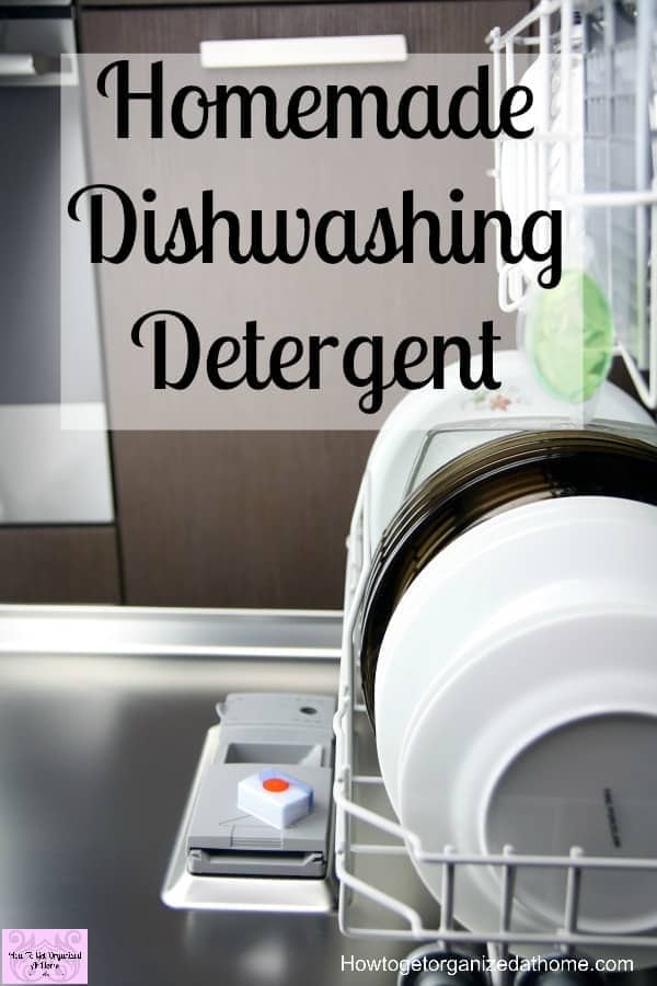 Easy To Make Homemade Dishwasher Detergent