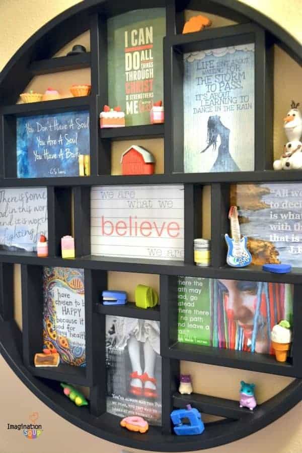 inspiring quotes in a frame for a tween gift