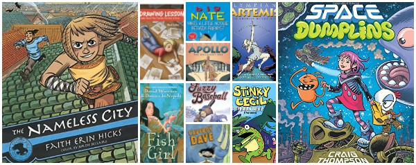 graphic novels for kids published in 2016 and 2017