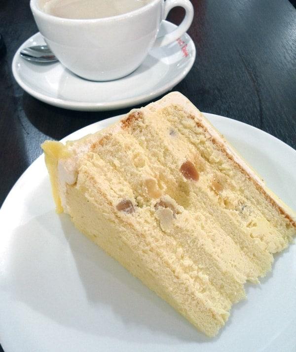 Macadamia White Chocolate Layer Cake
