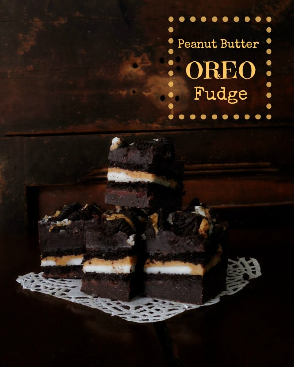 Peanut Butter Oreo Fudge