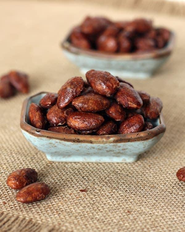 Bowl of Maple Cinnamon Almonds