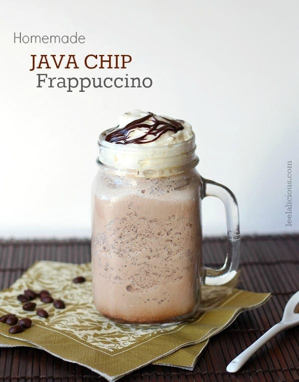Homemade Java Chip Frappuccino Glass