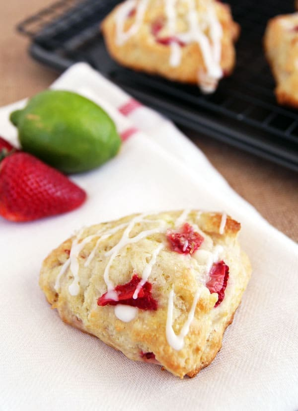 Strawberry Scone with Lime