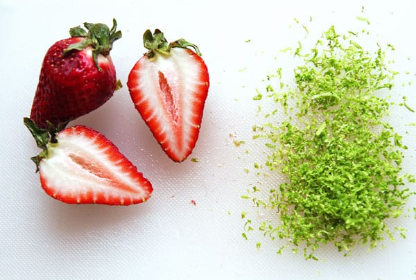Strawberries and Lime Zest