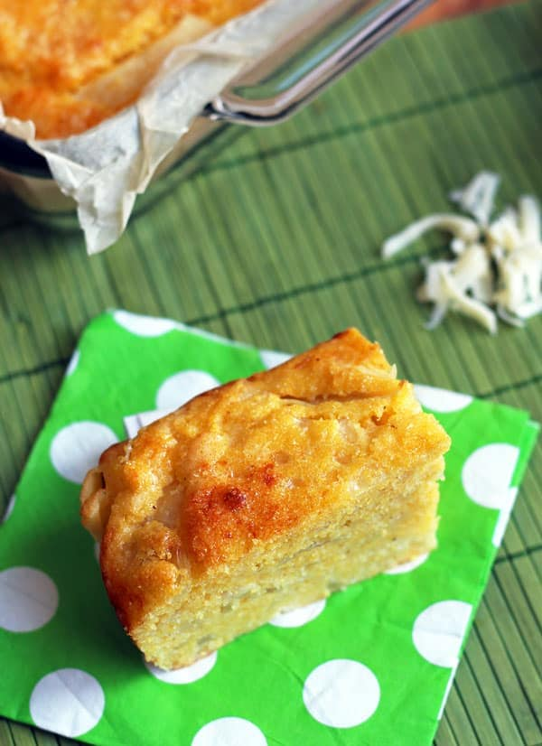 Cornbread with Cheese and Onions