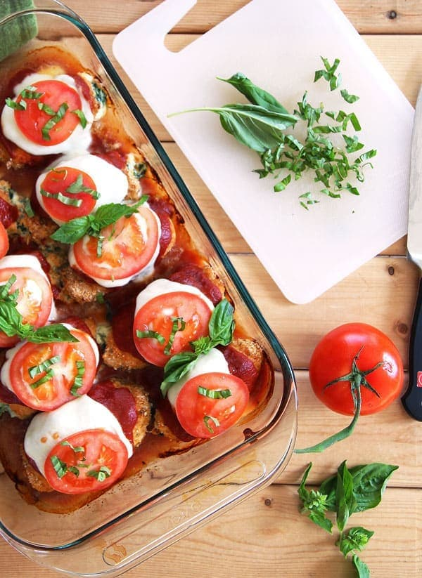 Caprese Roll Ups with Chicken