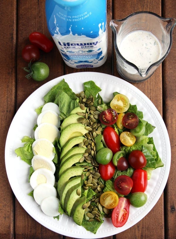 Fresh Salad with Kefir Dressing