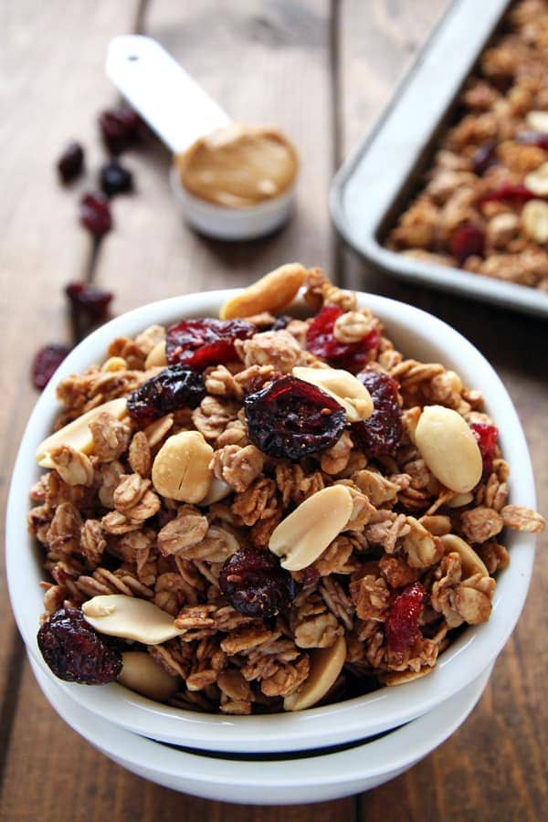 Jam and Peanut Butter Granola