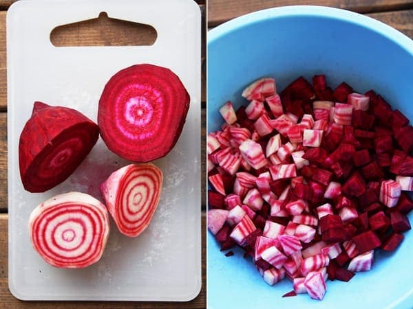 Slicing Candycane Beets