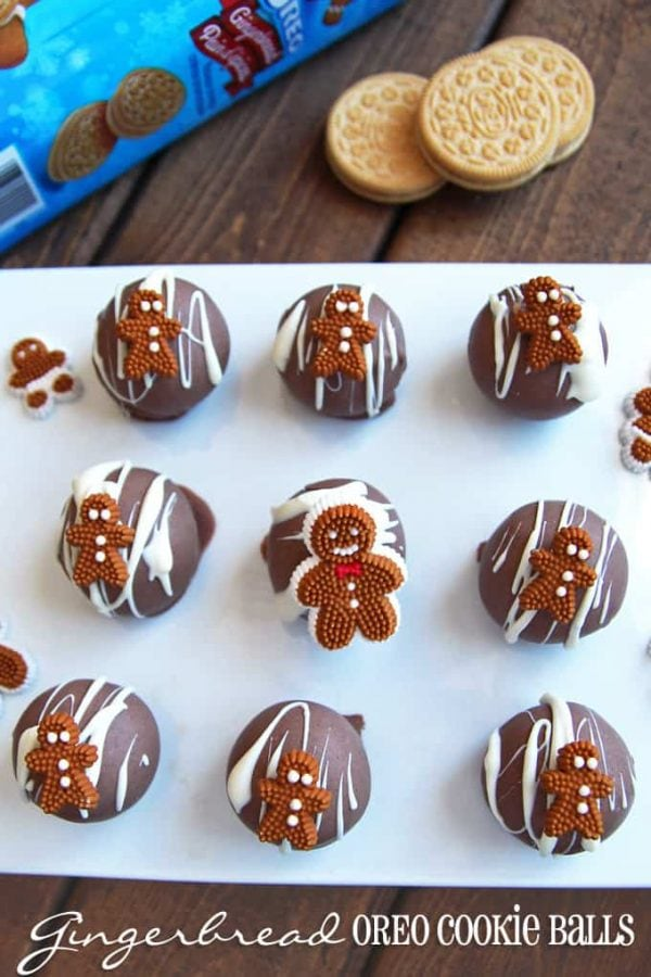 OREO Gingerbread Cookie Balls