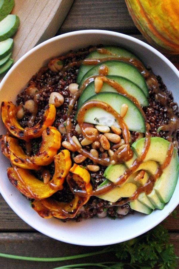 Delicata Squash Quinoa Bowl
