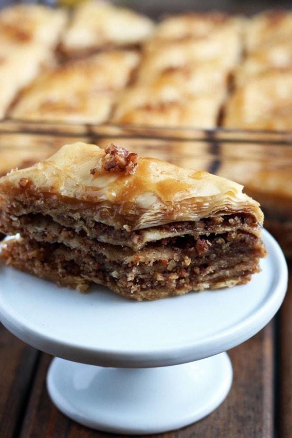 Homemade Maple Pecan Baklava