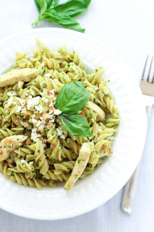 Pesto Chicken Pasta Dish