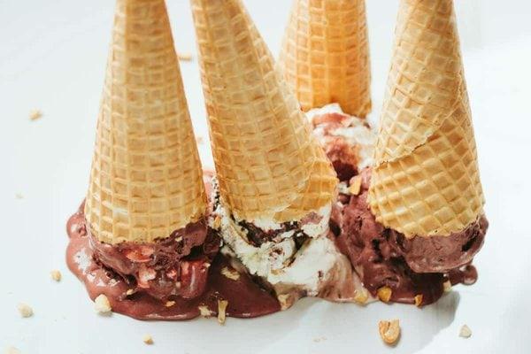 Upside Down Ice Cream Cones