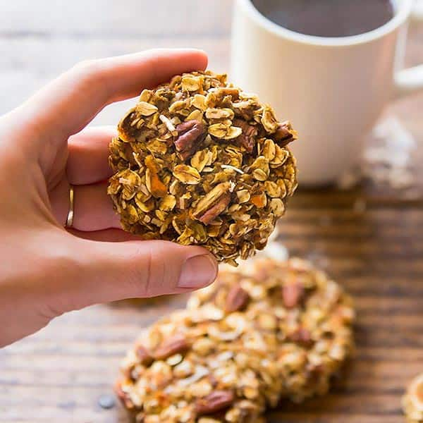Holding Carrot Cake Breakfast Cookie