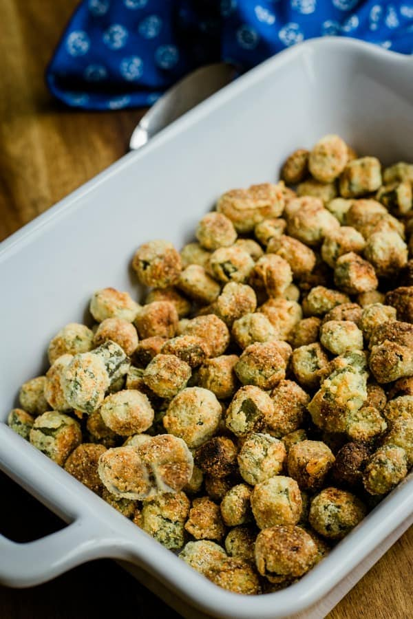 Crunchy Oven-Fried Okra | Yummy Soul Food Recipes | A Selection Of Satisfying Southern Goodness | pictures of soul food plates