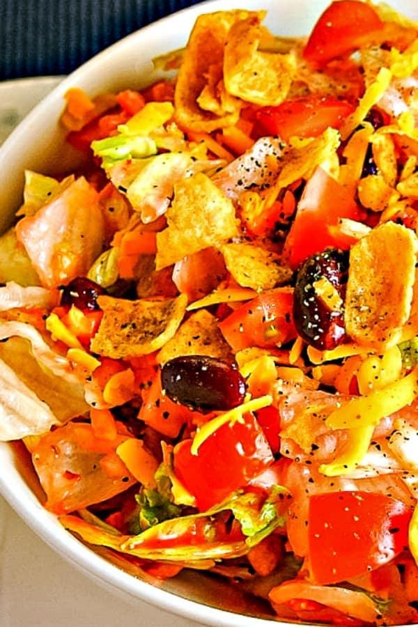 Catalina Salad close up shot