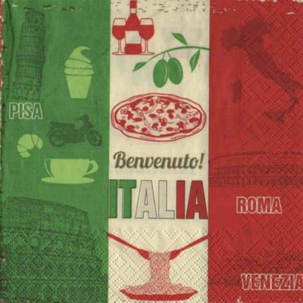 Serviette papier Italia Benvenuto