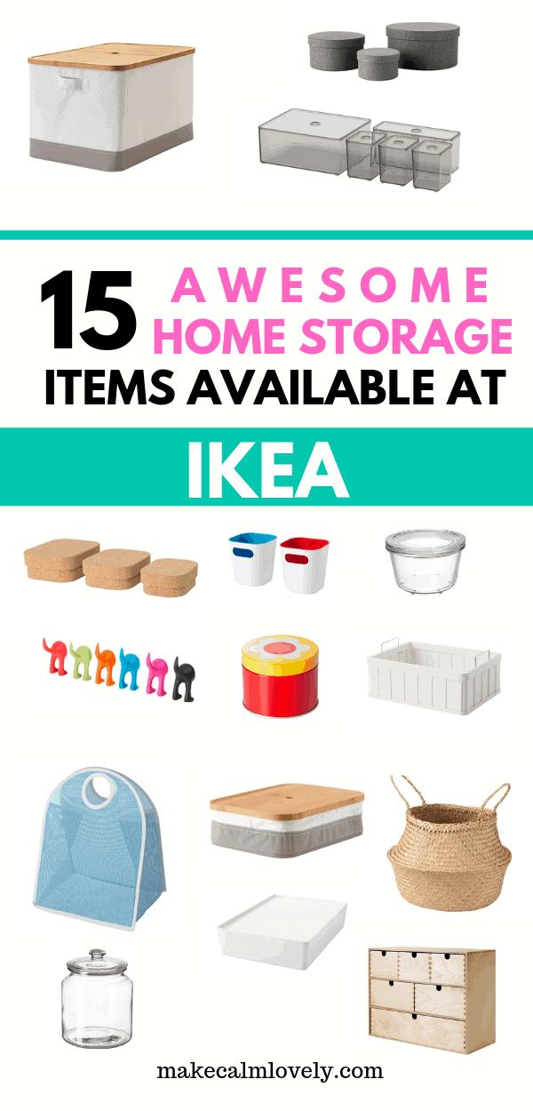 IKEA home storage items