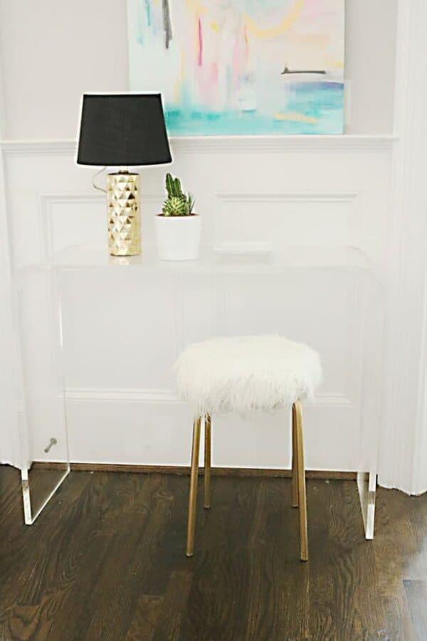 IKEA fur stool hack