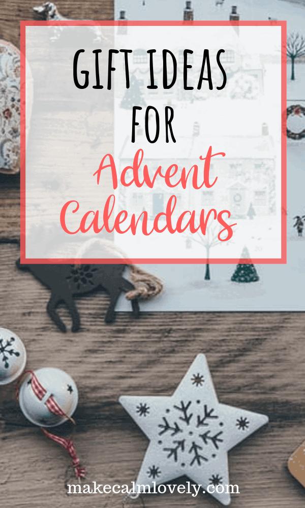 Gift Ideas for Advent Calendars. #Christmas #Holidays #AdventCalendar
