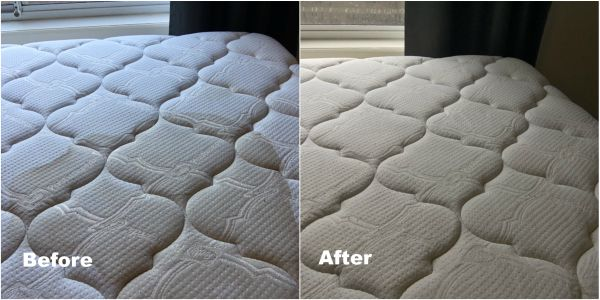 Mattress cleaning before and after - mattress cleaning and stain removal
