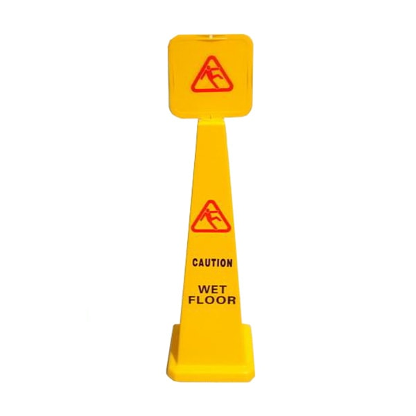 Wet floor caution cones