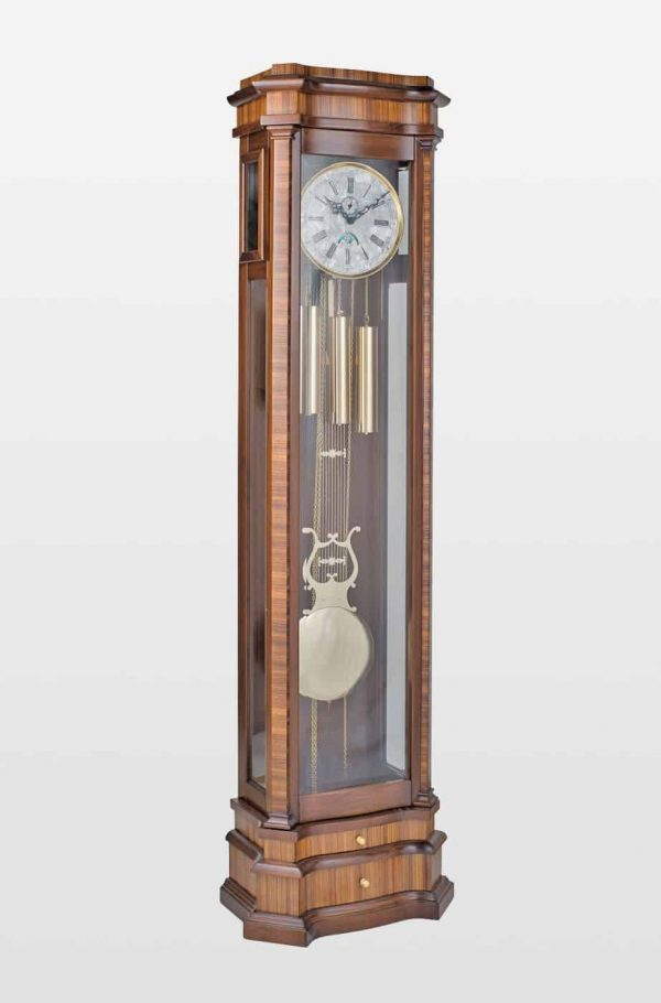 Elise Grandfather Clock in Walnut Finish