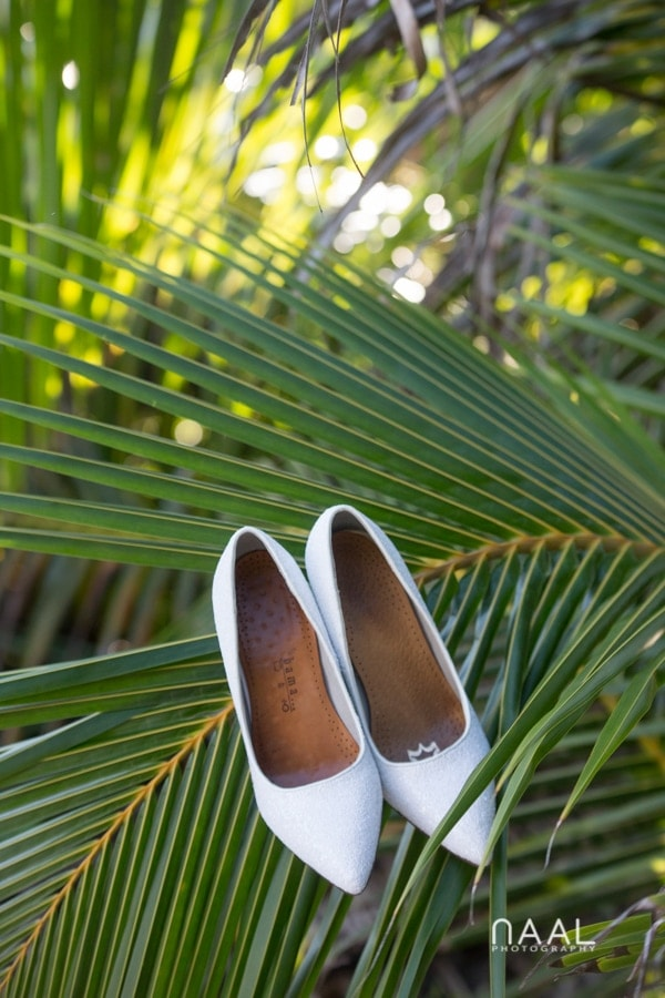 wedding shoesat Blue Venado beach Club by Naal Wedding Photography