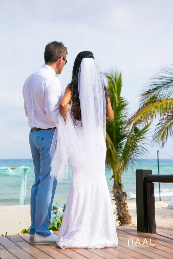 Maribel & Steve -  - Expected beach destination wedding at Le Reve 39