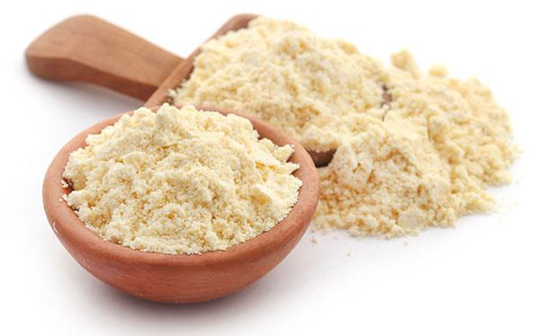 how to wash face using gram flour