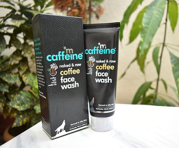 mCaffeine naked & raw coffee face wash review