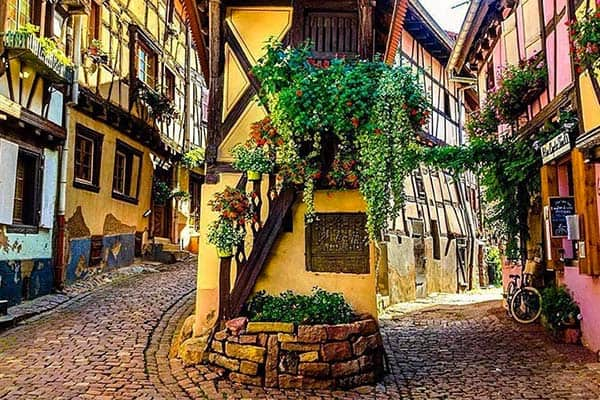 Eguisheim; one of the best preserved mediaval towns in France