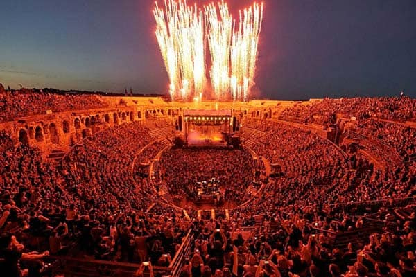 Rammstein in Nimes, France at the Theater