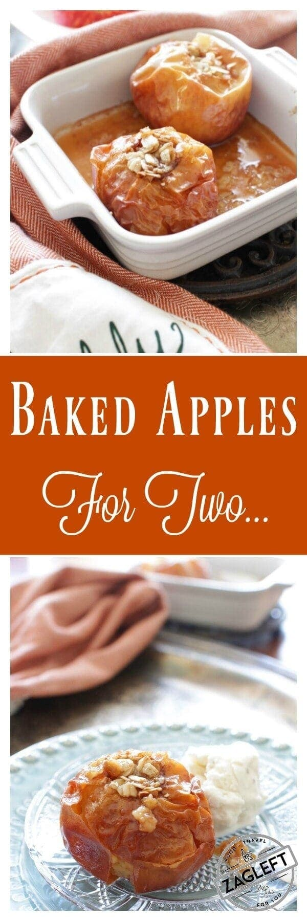 Baked Apples For Two | www.onedishkitchen.com