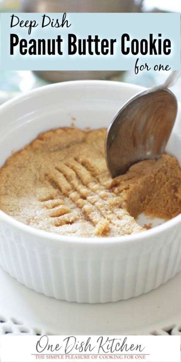 peanut butter cookie eaten with a spoon