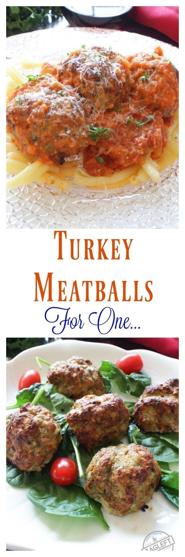 Tender and flavorful Turkey Meatballs For One | One Dish Kitchen