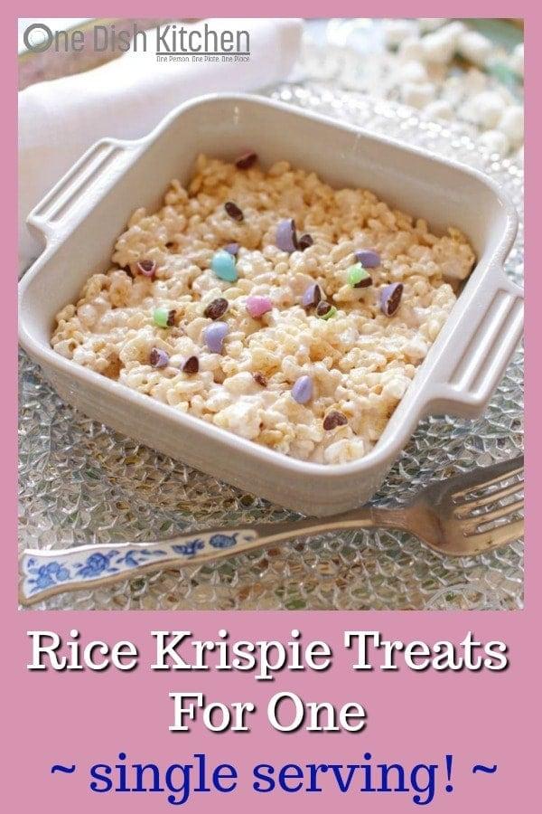 Rice Krispie Treats Recipe For One | One Dish Kitchen
