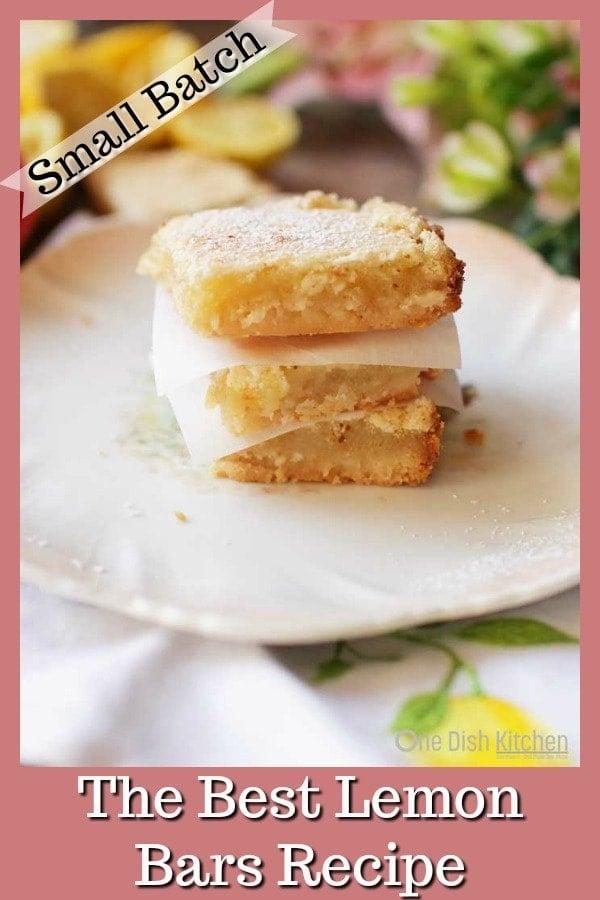 Lemon Bars | One Dish Kitchen