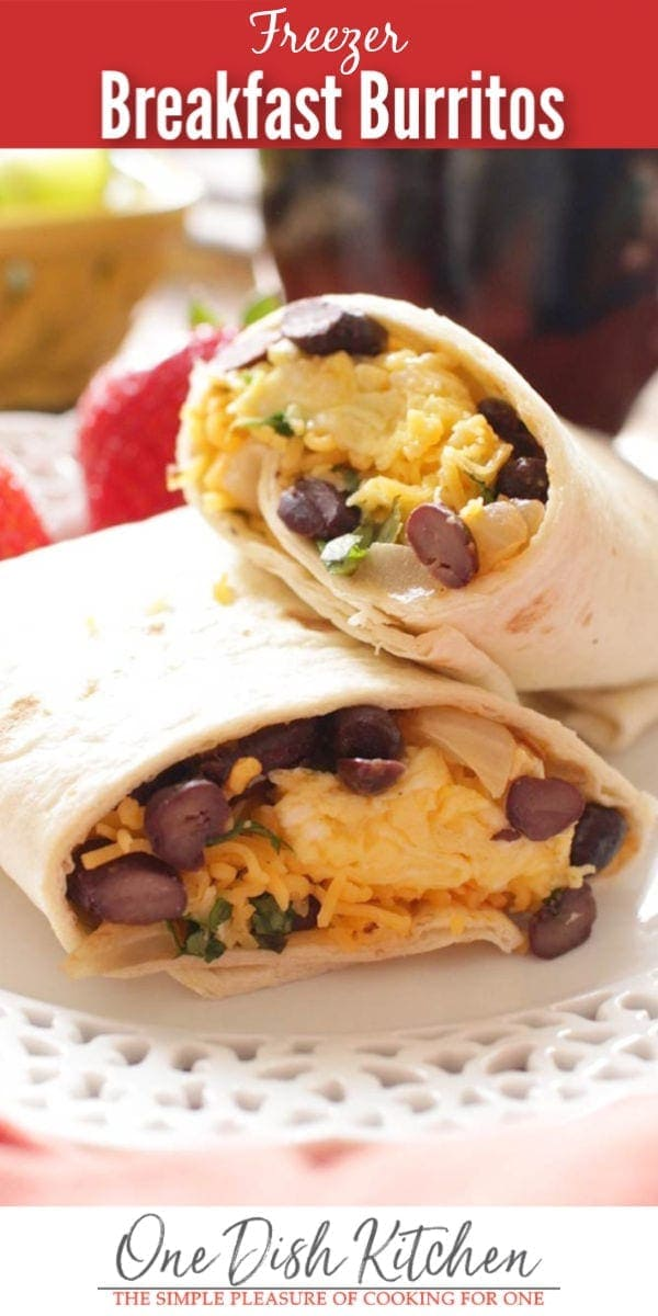 freezer breakfast burritos   one dish kitchen