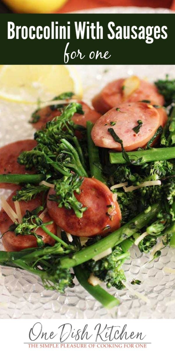 broccolini with sausages | one dish kitchen