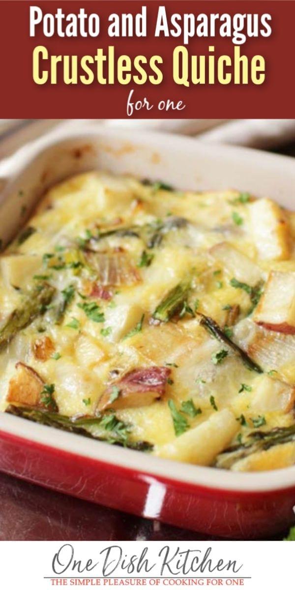 potato and asparagus crustless quiche | one dish kitchen