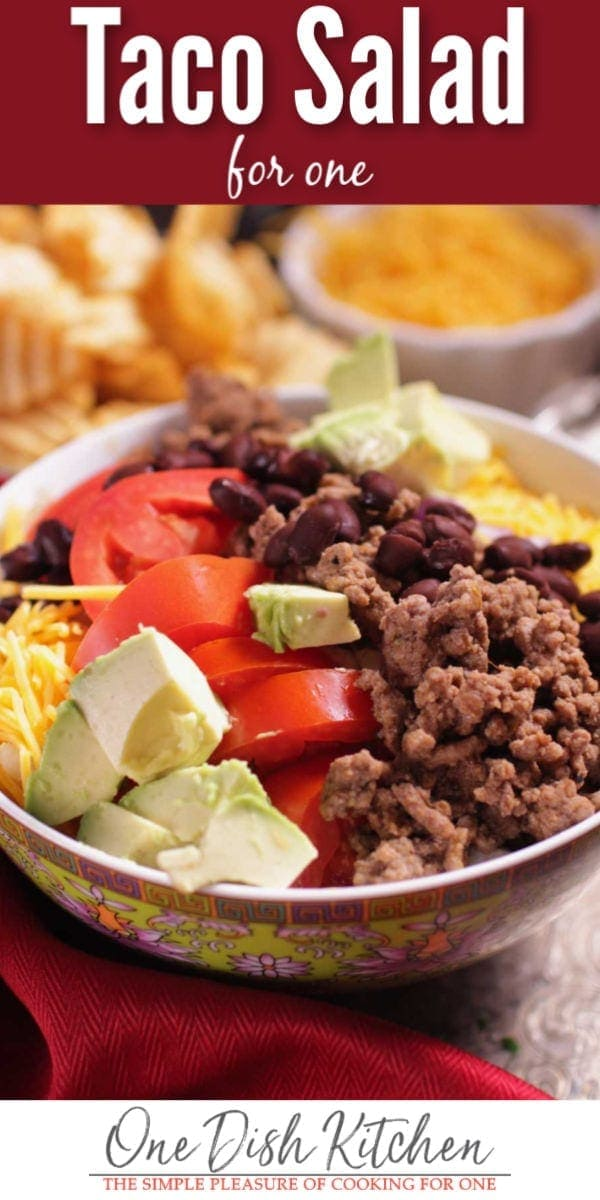 taco salad for one | one dish kitchen