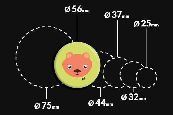 przypinka okrągła z misiem